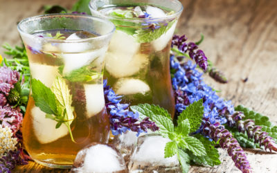 Ginger-Lavender Iced Tea with Mint & Maple