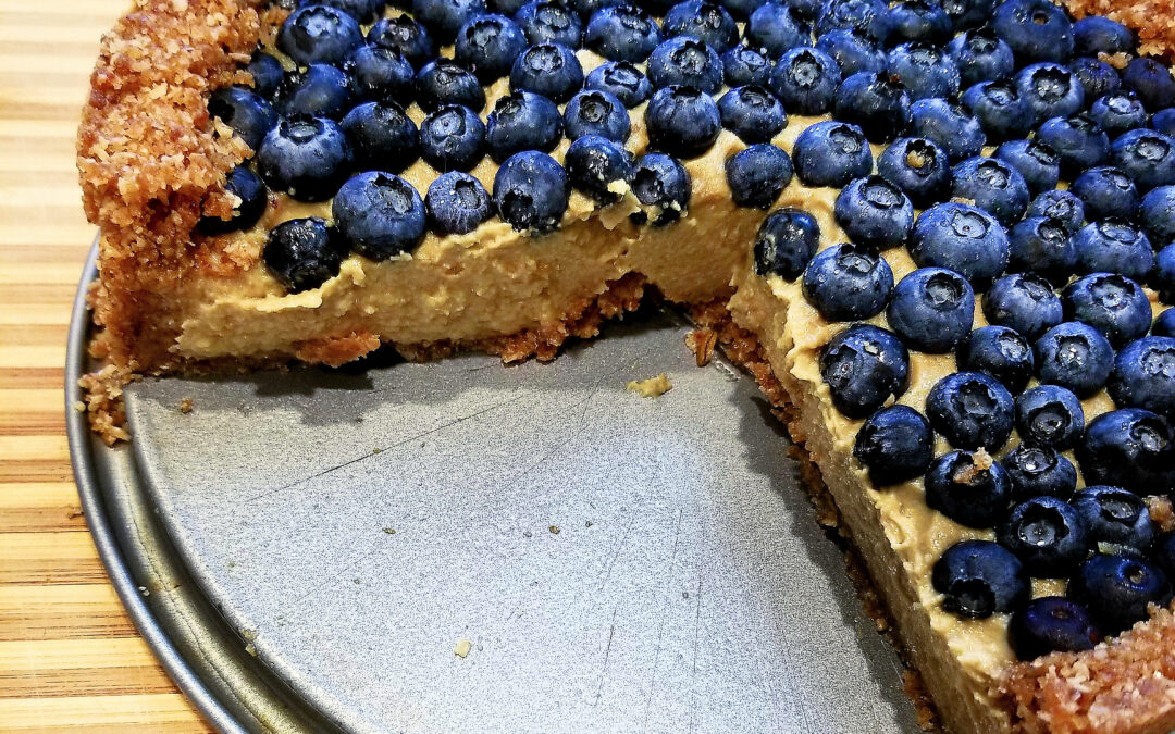 Blueberries & Cream No-Bake Tart