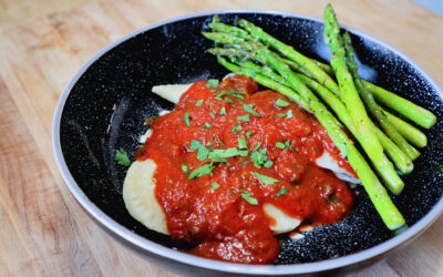Brown Rice Stuffed Pasta   Mezza Luna   Parsley & Chardonnay Sauce