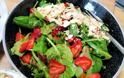 Ginger, Peach & Greens Salad